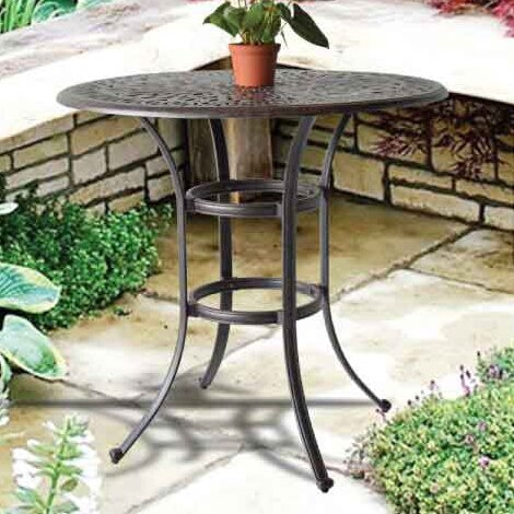 Kristy Metal Bar Table By Darby Home Co by Darby Home Co Great price