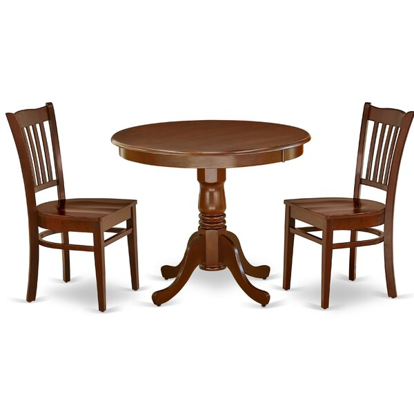 Dorthy 3 Piece Solid Wood Dining Set By Alcott Hill
