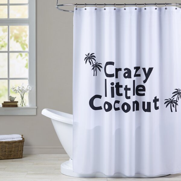 Milo Little Coconut Print Shower Curtain by Zoomie Kids