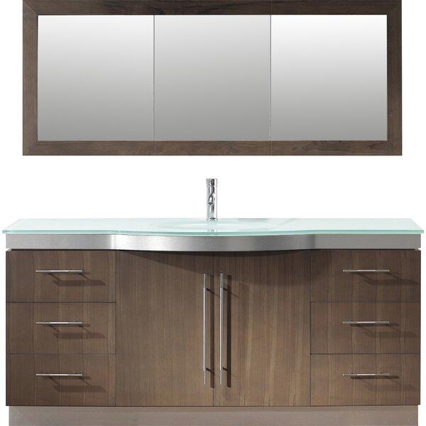 Diara 72 Single Bathroom Vanity Set with Mirror by Bauhaus Bath