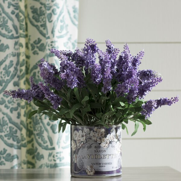 Mountain Lavender in Decoupage Planter by One Allium Way