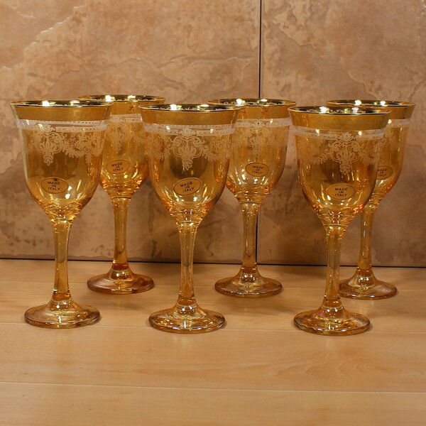 Corona 9 oz. Goblet (Set of 6) by Lorren Home Tren