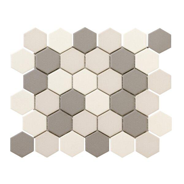 Zone Blend Hex 2 x 2 Porcelain Mosaic Tile in Matte Light by Emser Tile