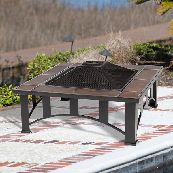 Steel Wood Burning Fire Pit Table by Fire Sense