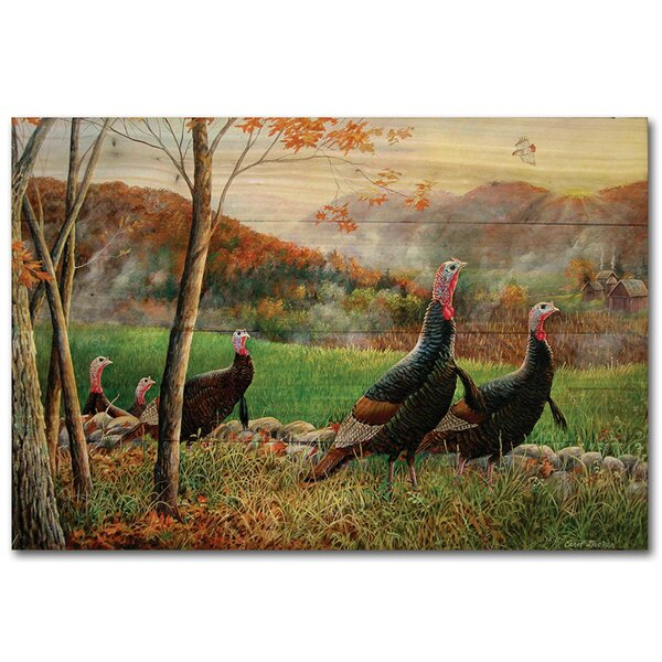 Autumn Glory Turkey by Carol Decker Painting Print Plaque by WGI-GALLERY