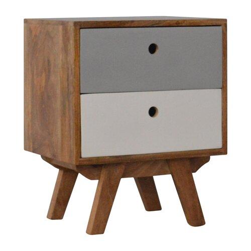 Nachttisch Ruby mit 2 Schubladen ScanMod Design   Schlafzimmer > Nachttische   Holz   ScanMod Design