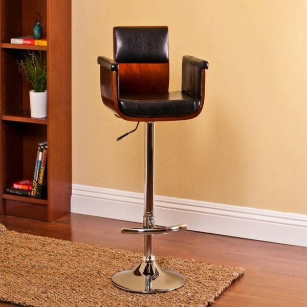 Ozbourn Modern Adjustable Height Swivel Bar Stool by Wrought Studio