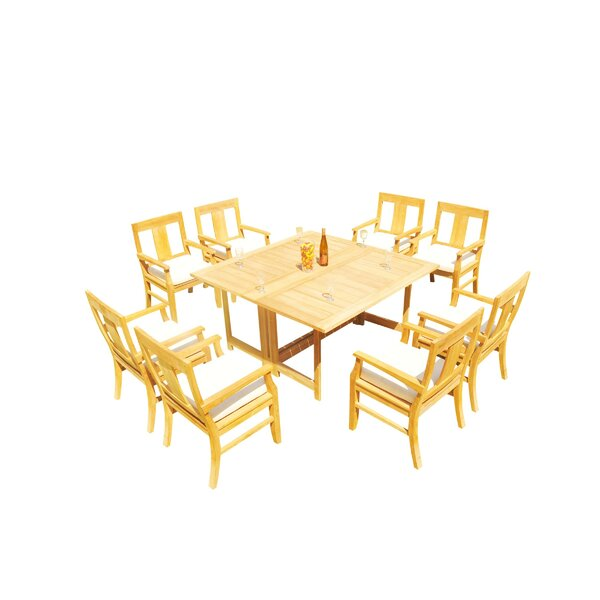 Kevon 9 Piece Teak Dining Set By Rosecliff Heights by Rosecliff Heights Cool