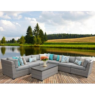 Florence 8 Piece Sectional Seating Group with Cushions by TK Classics