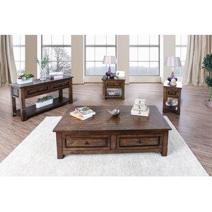 Best Reviews Bertha 4 Piece Coffee Table Set ByLoon Peak