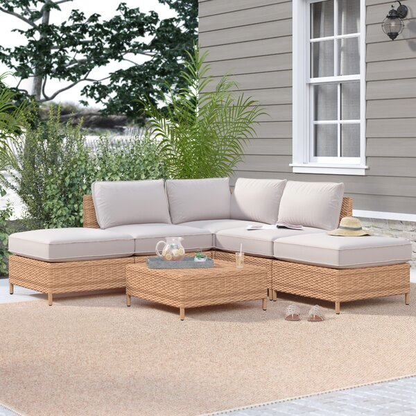 Tamworth 6 Piece Sectional Seating Group with Cushions by Breakwater Bay