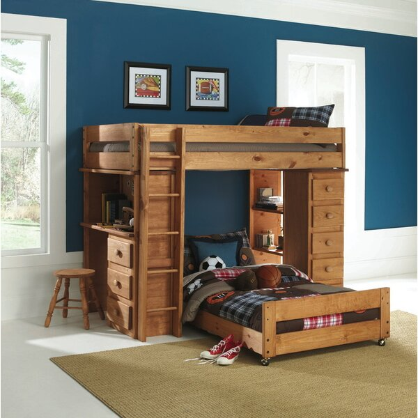 Ashley Twin over Twin L-Shaped Bunk Bed with Drawers by Wildon Home ®