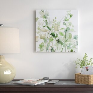 Flower paintings botanical wall art youll love wayfair sage garden ii oil painting print on wrapped canvas mightylinksfo