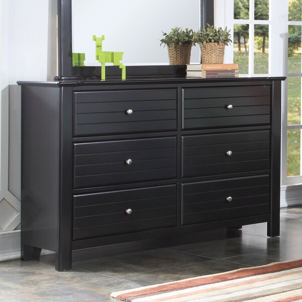Everman 6 Drawer Double Dresser by Harriet Bee