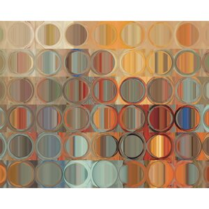 'Circles and Square 15' by Mark Lawrence Graphic Art on Wrapped Canvas by Portfolio Canvas Decor