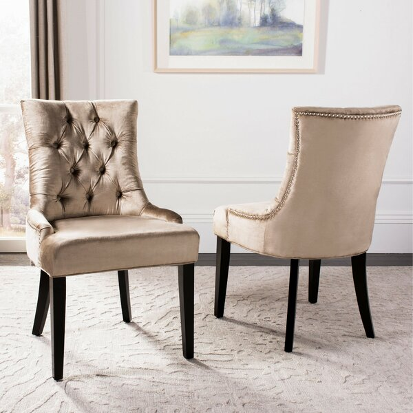 Reynesford Velvet Upholstered Dining Chair (Set of 2) by Charlton Home