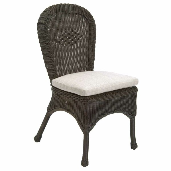 Wicker Patio Dining Chair with Cushion (Set of 2) by Summer Classics