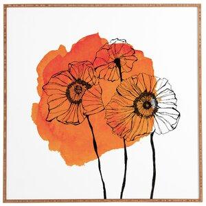 'Orange Poppies' Print by East Urban Home