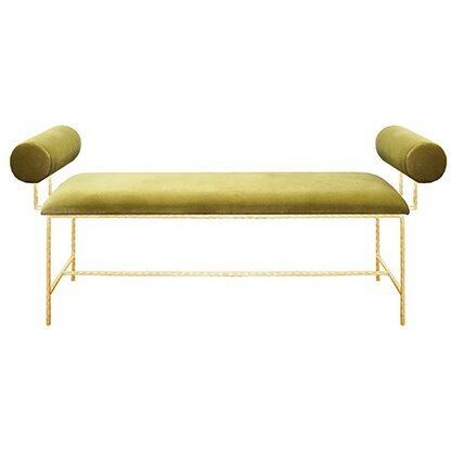 Bolster Arm Upholstered Bench