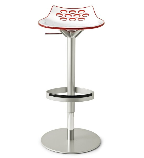 Leidig Adjustable Height Swivel Bar Stool by Orren Ellis