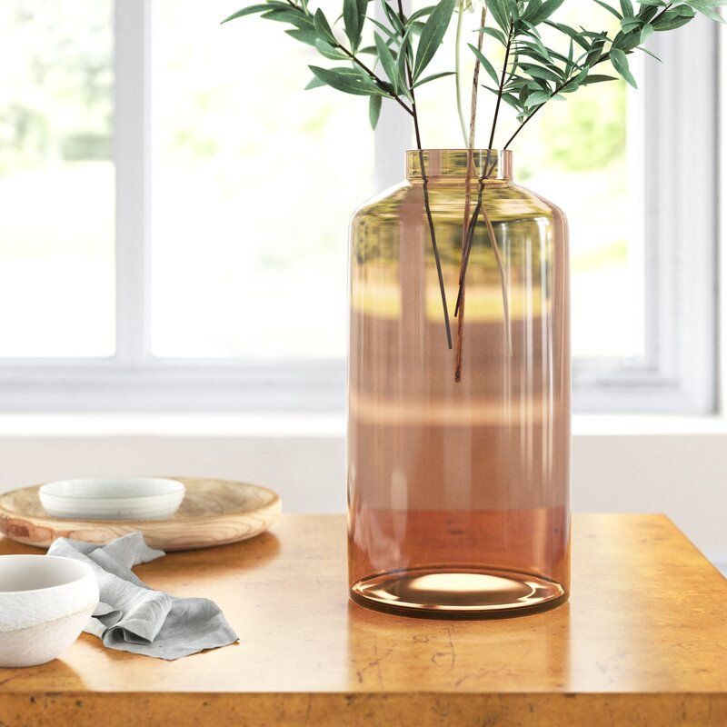 Astala Brown 12 5 Glass Table Vase