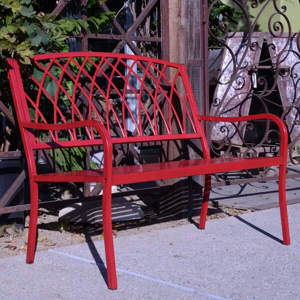 Lancaster Steel Garden Bench by Innova Hearth and Home