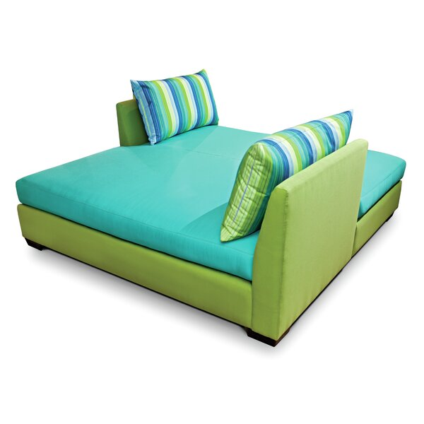 Fizz Double Chaise Lounge with Cushion by Seasonal Living