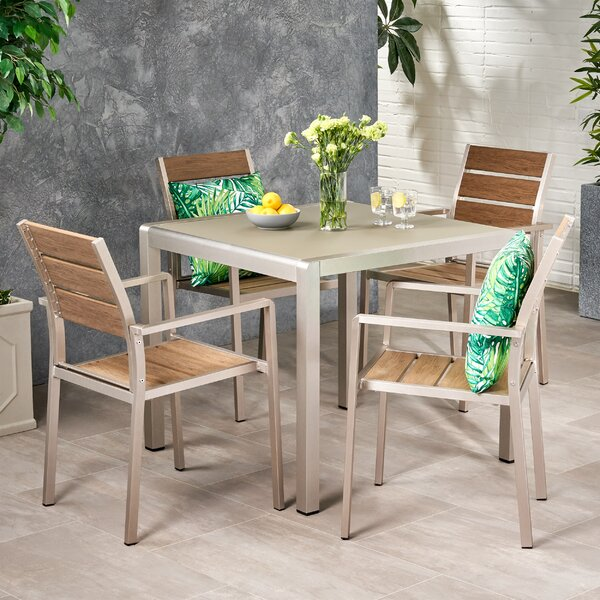 Lowder Coral 5 Piece Dining Set by Wrought Studio