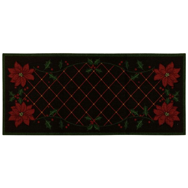 Bryson Black/Red Area Rug by The Holiday Aisle