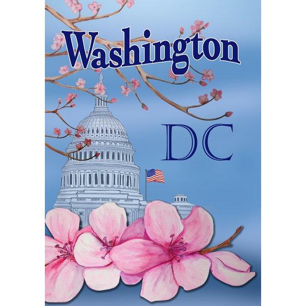Washington Cherry Blossoms Garden flag by Toland Home Garden