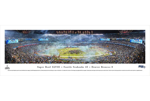 NFL Super Bowl 2014 by Christopher Gjevre Photographic Print by Blakeway Worldwide Panoramas, Inc
