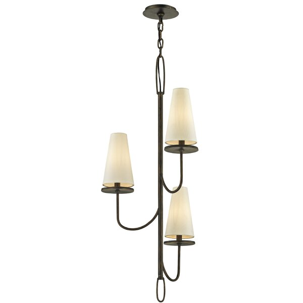 Oatman 3-Light Shaded Classic / Traditional Chandelier by Union Rustic Union Rustic