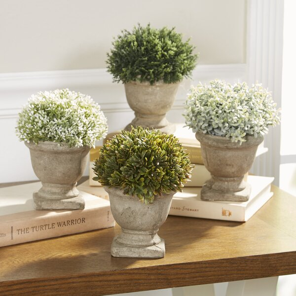 Faux Plants in Mini Urns (Set of 4) by Birch Lane™