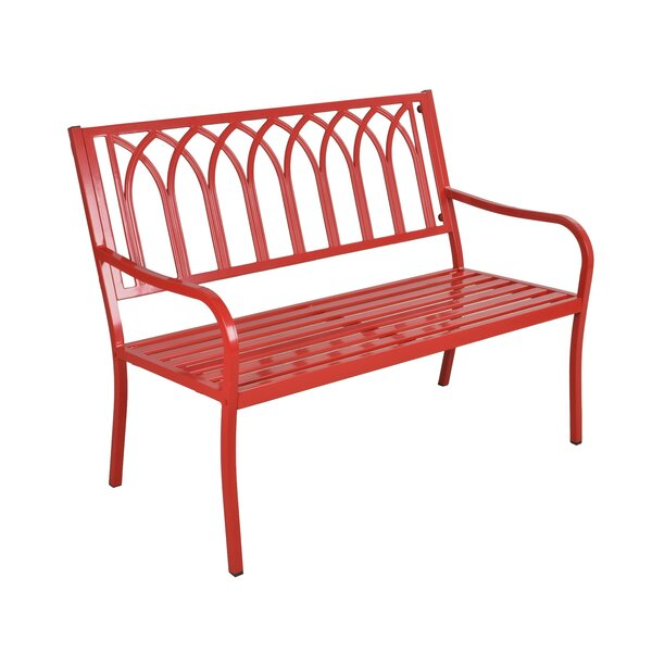 Romy Steel Bench by Highland Dunes