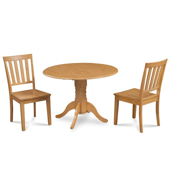 Chesterton Traditional 3 Piece Wood Dining Set by Alcott Hill