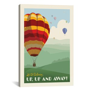 'SoN Hot Air Balloons' by Anderson Design Group Vintage Advertisement on Wrapped Canvas by iCanvas