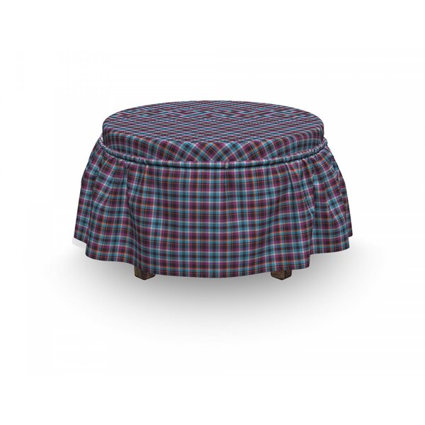Checkered Scotland Country Tile 2 Piece Box Cushion Ottoman Slipcover Set By East Urban Home