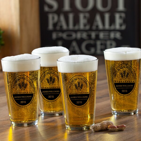 Brewing Company Personalized 16 oz. Pub Glass (Set of 4) by JDS Personalized Gifts