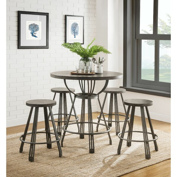 Bopp 5 Pieces Pack Counter Height Dining Set by Williston Forge Williston Forge