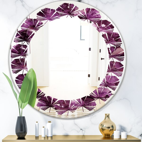 Leaves Gems Coastal Frameless Wall Mirror