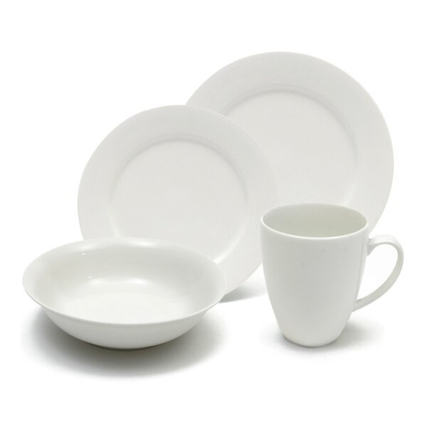 White Basics Providence 16 Piece Dinnerware Set, Service for 4 by Maxwell & Williams