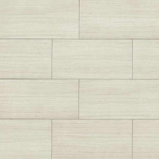 Haven 12 x 24 Porcelain Field Tile in Matte White by Grayson Martin