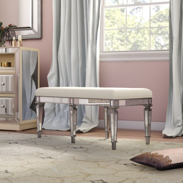 Journee Upholstered Bench by House of Hampton