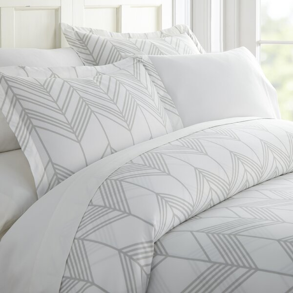 Melstone Chevron Duvet Cover Set by Bungalow Rose