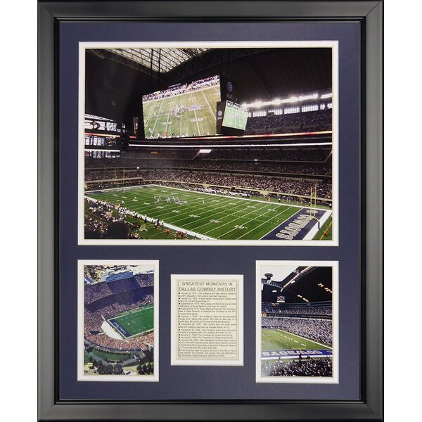 NFL Dallas Cowboys - Cowboy Stadiums Framed Memorabili by Legends Never Die