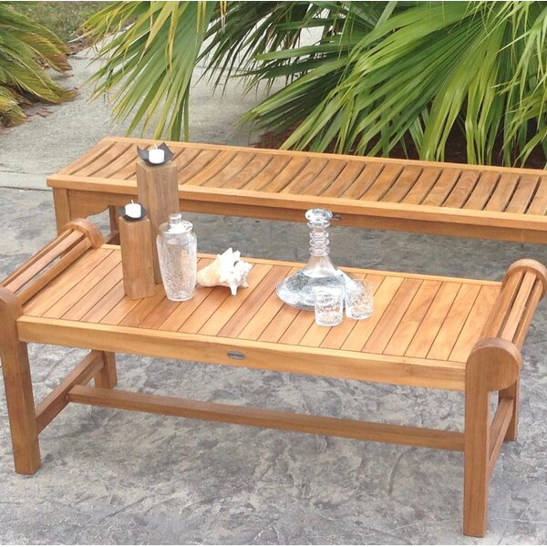 Ingrid Teak Picnic Bench by Bay Isle Home