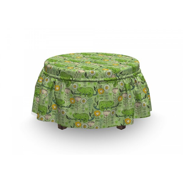 Chameleons On Branches Ottoman Slipcover (Set Of 2) By East Urban Home