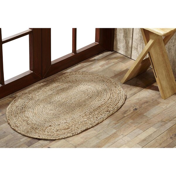 Aldaco Natural Jute Area Rug by Loon Peak