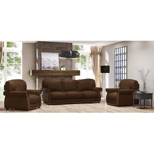 Tiffany 3 Piece Leather Living Room Set by Westland and Birch