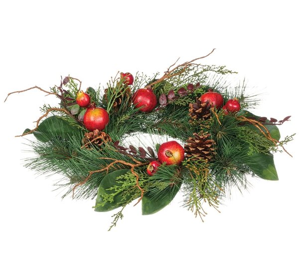 16 Pine and Pomegranate Wreath by The Holiday Aisle